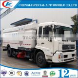 Dongfeng 132hp 150hp public street sweeper truck 4x2 Vacuum Street Dust Suction Road Sweeper Truck
