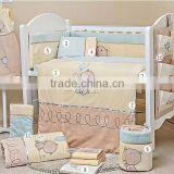 100% Cotton Printed Cot Crib Baby Bedding Set in China