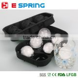 New Design 6 Hole Ice Cube Ball Drinking Wine Tray Brick Round Maker Mold Sphere Mould Party Bar Silicone Ice Hockey Maker