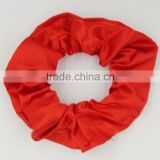 Low price silk satin fabric hair scrunchie for hair salon promotion