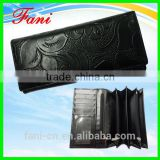 Flower embossed factory wholesale directly genuine leather wallet for women