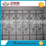 China direct supplier wrought iron railing/roof deck railing/outdoor metal stair railing