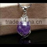Wholesale natural Amethyst crystal stone, Pendulum dragon bead crystal pendant for ornament