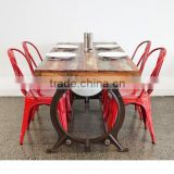 Metro Vintage DINING Table Set, RECLAIMED Bar DINING TABLE Set , Industrial Dining Table Set