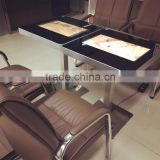 "21.5 "" white black oem full hd touchscreen interactive coffee table / smart touch table / restaurant"