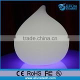 plastic battery rechargeable holiday led decorative lighting,led table peach shape lamp