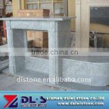Marble gas sandstone fireplace