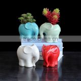 Garden decor elephant shaped animal flowr pot small cute ceramic pot for plants