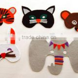 2017 China hot sale hight quality products eco friendly felt material handmade wholesale party decoration animal mask