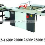 Precision Panel Saw Machine MJ12-2800 with Major table size 385x800 mm and 90degree tilting and Main blade speed 4000 rpm