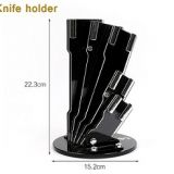 Stainless Steel 6pcs Kitchen Knife Set With Wooden Handle and Knife Block