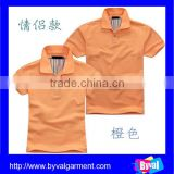 Wholesale OEM design plain t shirt couple polo shirt China export clothes