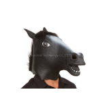 Youtumall Halloween Animal Mask Black Rubber Horse Head Mask