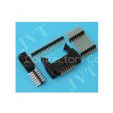 Dual Row 2.54mm Pitch Pin Header Connector with SMT 2 - 50 Poles PA6T Housing 22 - 28 AWG
