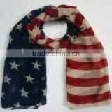 2015 New Fashion Vintage American Flag Infinity Scarfs USA Scarves Shawls For Women /Ladies
