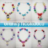 baby elsa and anna chunky necklace from frozen kids ice queen bubblegum necklace