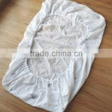 Bamboo muslin fitted cover used for baby bedding