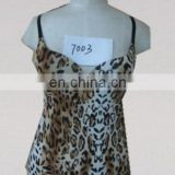 women camisole lady camisole with bra sexy leopart camisole