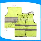 Fashion design safety vest for road security with EN20471 tape