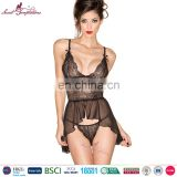 Secret Temptations black sexy babydoll sleepwear chemise g-string pictures of sexy nightwear
