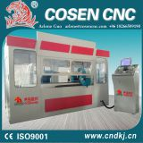 All-closed CNC wood lathe machine for woodworking
