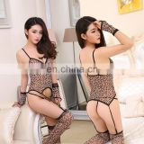 Chaozhou Wholesale High Quality Erotic Hot Fashion Lady Women Tight Leopard Print Sexy Lingeries