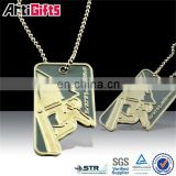 Promotional metal blank wholesale military dog tags