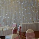 Homei star curtain with white led cloth stage background