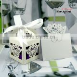 butterfly custom wedding decoration set candy box and table card,laser cut paper wedding decorations