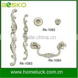 New silver flower handle for palace,ancient furniture
