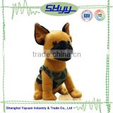 Factory made soft animal plush stuffed toy brown lifelike dog toy