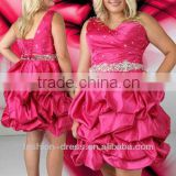 2013 Beautiful One-Shoulder For Fat Women Fuchsia Ball Gown Prom Dresses