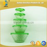 Heat resistant green 5 pcs glass bowls set                                                                         Quality Choice