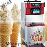 2016 CE Approved all stainless steel double digital control aspera compressors 3 flavors 48 liter/hour ice cream vending machine
