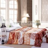 2015 new products super soft warm woven embossed Chinese style custom mink blanket