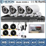 Best Price CCTV Security Dvr Kit 4CH H.264 Video Recorder System 4 IR Waterproof CCTV Camera System camera                                                                         Quality Choice