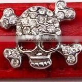 Zinc Alloy Rhinestone Jewelry Skull Rivets for Pet Collars and Bracelets Accessories