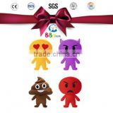 OEM custom plush toy maker whatsapp cute emoji pillows plush toy doll