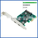 Desktop USB 3.1 type C controller card PCIE x4 to daul USB3.1 Type C 10Gbps expansion Card