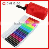 24pcs kids mini permanent Color marker set with pencil case