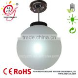 Outdoor PMMA plastic hanging lamp frosted ball chandelier