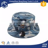 Custom your own blue camo wholesale bucket hats