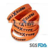 2015 Promotional embossed logo customized silicone wrist band                                                                         Quality Choice
