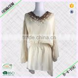 wholesale crystal bead long sleeve lace wedding luxury embellished pearls dress beaded dress