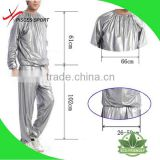 China Alibaba disposable clear plastic sauna suit