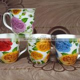 Cheap 8 oz new bone china mug for Pakistan that decal beautiful flowers