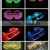 CE ROHS approved LED shutter party glasses flashing el wire battery operated sunglasses popular in United Kingdom, United States                                                                         Quality Choice