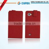 Red color folio leather case cover for LG P880 Optimus 4X HD cell phone