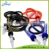China factory supply disposable shisha hose shisha hookah silicone hose plastic shisha hose