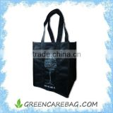 Hot Black Non Woven 6 Bottle Wine Tote Bag                                                                         Quality Choice